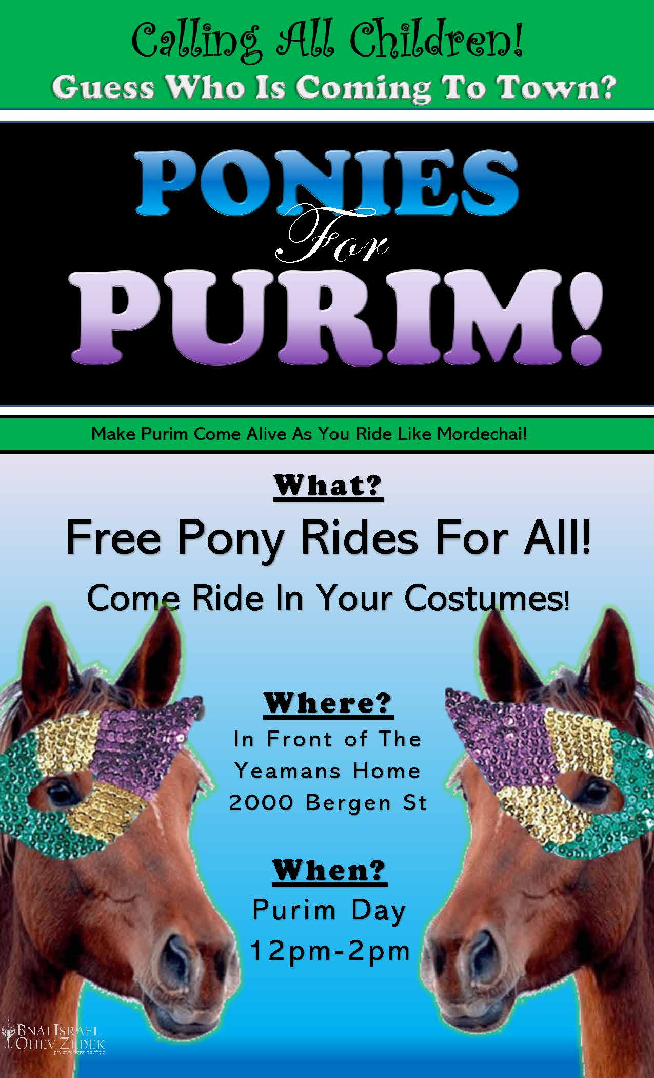 Ponies For Purim